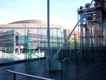 Senedd glass outside